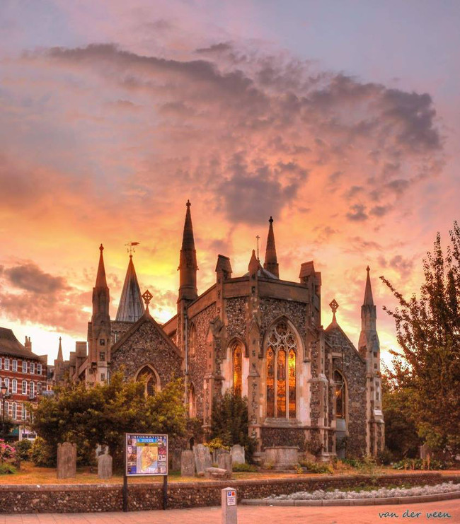 A fantastic shot of the east end of St Mary's by local photographer, Brian van der veen.